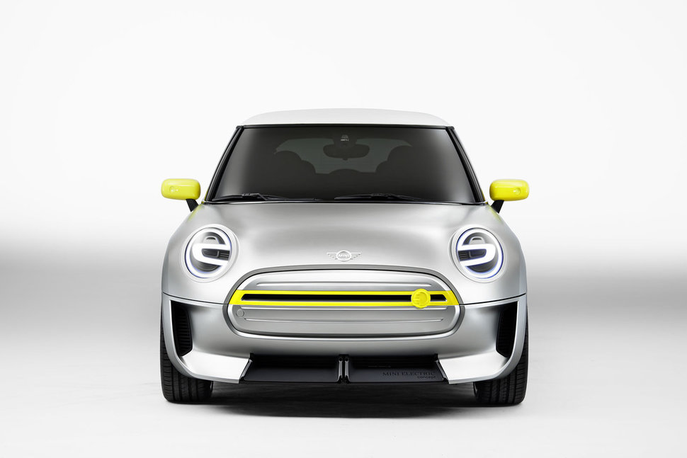 Naturally Without The Need For Airflow Cooling A Closed Off Grille Is Par Course An Electric Car Mini
